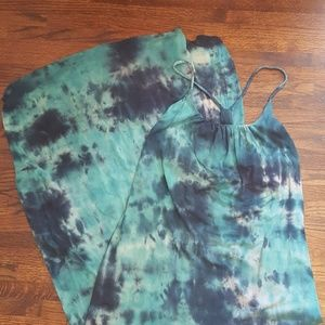Anthropologie Gypsy 05 Tie Dye Maxi Dress